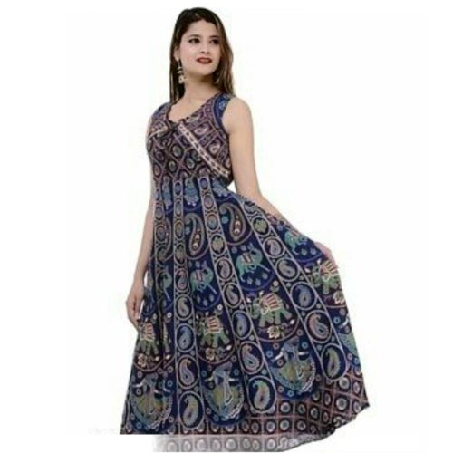 Cotton Printed Long Dresses full side