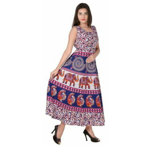 Jaipur Print Cotton Kurti Mult with marooni